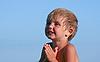 Photo 300 DPI: little girl prays