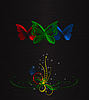 Фото 300 DPI: три бабочки