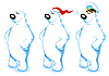 Vector clipart: Cartoon Polar Bears