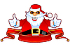 Vector clipart: Cool Santa and ribbon