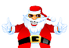 Cool happy Santa