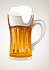 Vector clipart: mug with gold beer