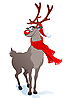 Vector clipart: Happy Christmas reindeer