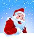 Векторный клипарт: счастливый Санта Клаус