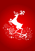 Vector clipart: Reindeer on red card