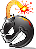 Vector clipart: cartoon evil bomb