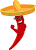 Vector clipart: Mexican strong hot chili pepper