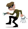 Vector clipart: thief