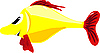 Vector clipart: yellow fish