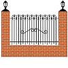 Векторный клипарт: ограда