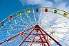 Photo 300 DPI: Ferris wheel in amusement park