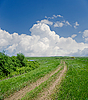 Rural road under clouds | Stock Foto