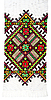 Embroidered cross-stitch pattern | Stock Foto