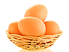 Fresh brown eggs | Stock Foto