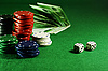 ID 3091816 | Żetony na zielonym stole | Foto stockowe wysokiej rozdzielczości | KLIPARTO