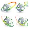 Векторный клипарт: четыре вектора экологические символы и гимн