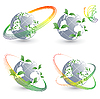 Vector clipart: four environmental simbols