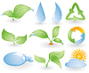 Векторный клипарт: Набор различных экологических значков