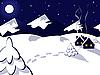 Векторный клипарт: зимний пейзаж
