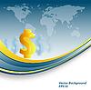 Векторный клипарт: доллар фоне