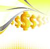 Dollar background | Stock Vector Graphics