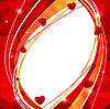 Векторный клипарт: красный Валентина вектор