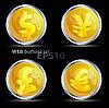 Векторный клипарт: Кнопки со знаками мировой валюты