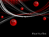 Векторный клипарт: фон с красными сферами