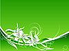 Векторный клипарт: цветочный зеленом фоне