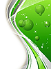 Vector clipart: green vertical background