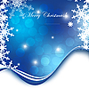Vector clipart: blue christmas card with snowflakes