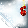 Vector clipart: Christmas backdrop with balls