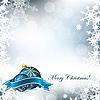 Векторный клипарт: рождественский фон с шарами