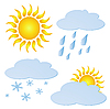 Vector clipart: set of weather elements
