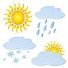 Vektor Cliparts: Set von Wetter-Elementen