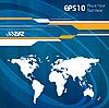 Векторный клипарт: Абстрактный фон с картой мира