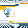 Векторный клипарт: технологический фон с земным шаром