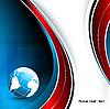 Vektor Cliparts: Linien mit Globus