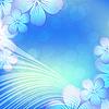 Vektor Cliparts: Blumen-Schablone