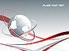 Vector clipart: lines with globe