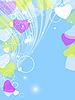 Векторный клипарт: Валентина цветочные карты