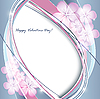 Vector clipart: valentine floral card