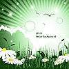 Vector clipart: fairy green background