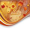 Vector clipart: autumn template