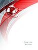 Векторный клипарт: красные линии с глобусом