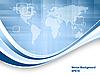 Векторный клипарт: Синие линии с глобусом