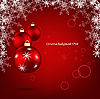 Vector clipart: bright christmas card
