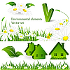 Vector clipart: environmental design elements