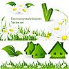 Векторный клипарт: экологические элементы дизайна