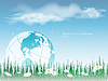 Vector clipart: environmental with globe